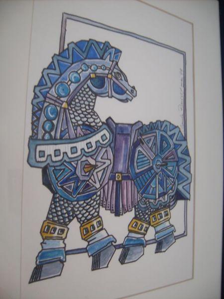 Cheval de guerre, automne hiver dans La Galerie de Claude chevaldeguerre